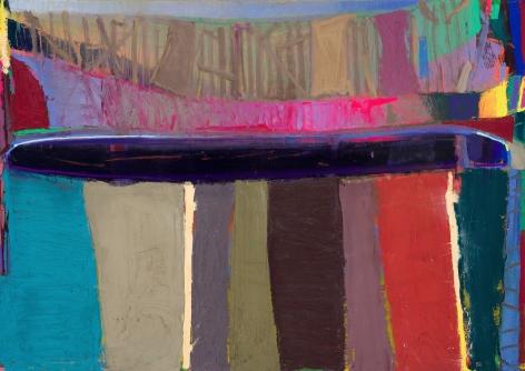 Brian Rutenberg, Shoreline, 2019, oil on linen, 44 x 62 inches