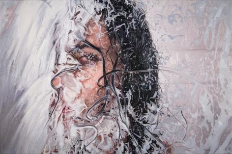 "Alyssa Monks, ""Grit"", 2017, oil on linen, 32 x 48 inches"