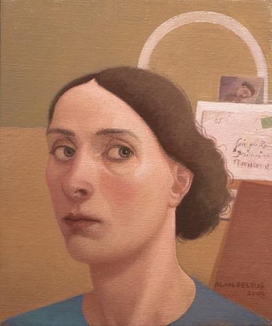 alan feltus, Alba, 2009, oil on canvas, 11 3/4 x 9 3/4 inches