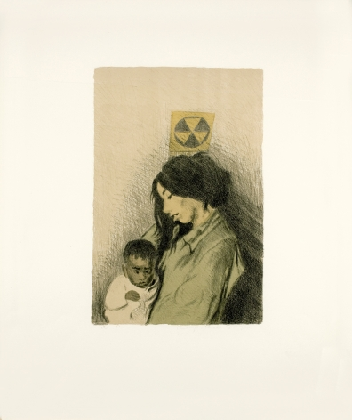 Raphael Soyer, Mother and Child, 1967, lithograph, 26 x 20 inches 16 1/2 x 10 1/2 inches (image size), A / P, Edition 10/12