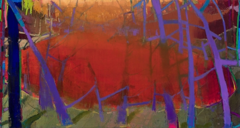 Brian Rutenberg, A Little Long Time, 2019, oil on linen, 48 x 90 inches