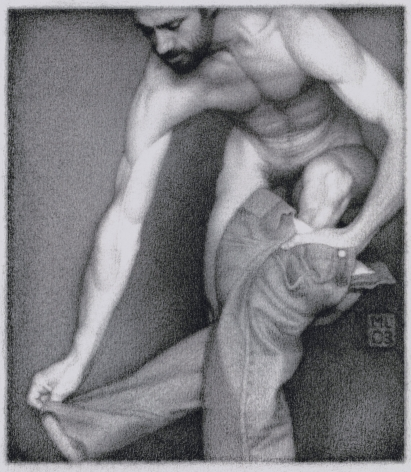 Michael Leonard, Climbing Out, 2003, graphite pencil on paper, 8 7/8 x 6 5/8 inches