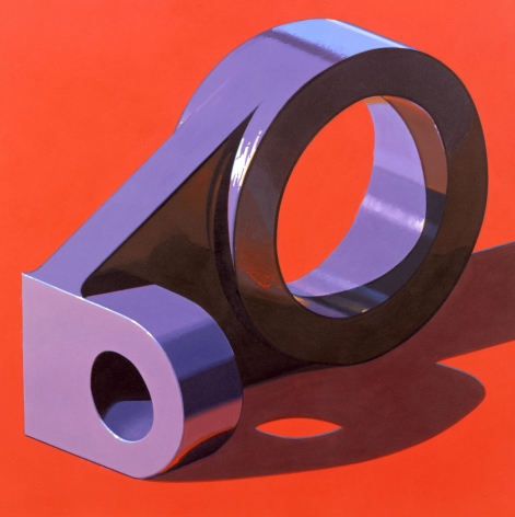Robert Cottingham, Component IX (SOLD), 2007, oil on canvas, 39 3/4 x 39 3/4 inches