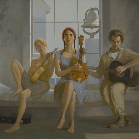 bo bartlett, The Commoners, 2008, oil on linen, 60 x 60 inches