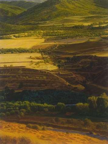 Peter Krausz, (No) Man's Land No. 7 (SOLD), 2008, secco on panel, 40 x 30 inches