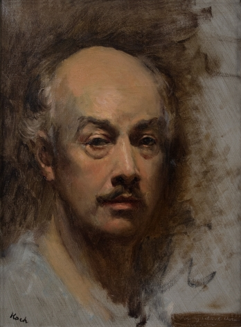 John Koch, Self-Portrait, circa 1968, oil on canvas, 16 x 12 inches