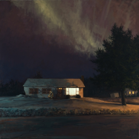 Linden Frederick Northern Lights (SOLD), 2010, oil on linen, 40 x 40 inches