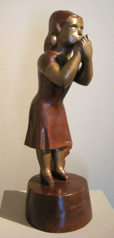 Chaim Gross, Make Up, 1927, bronze, 23 inches high, Edition 1/6