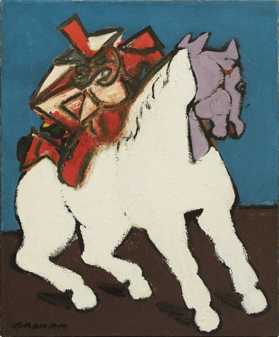 john graham, Warrior on Horseback, c. 1942, oil on canvas, 24 x 20 inches