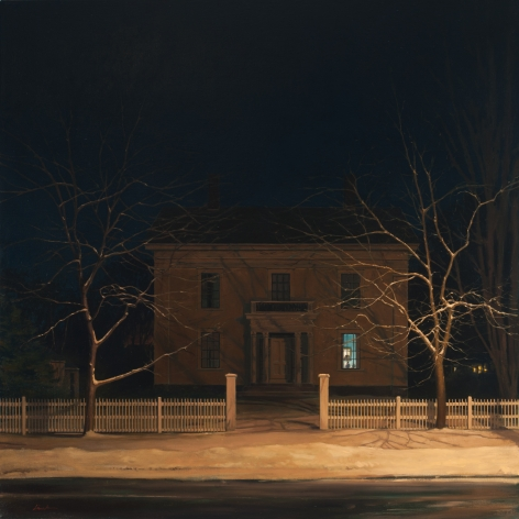 Linden Frederick Blue Room (SOLD), 2010, oil on linen, 40 x 40 inches