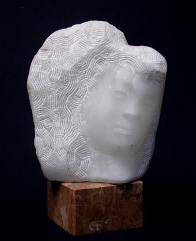 Chaim Gross, Rachel, 1970, white alabaster, 11 1/2 x 9 1/2 x 7 1/2 inches