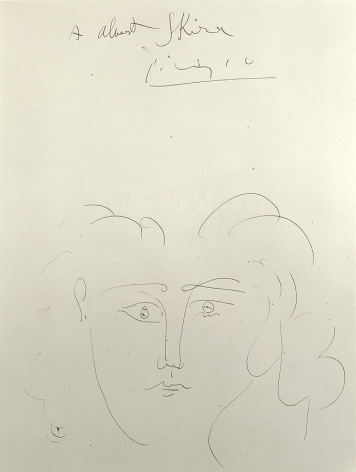 Pablo Picasso, Tête de femme (Dora Maar), 1942, pen and India ink on paper, 14 1/2 x 10 7/8 inches