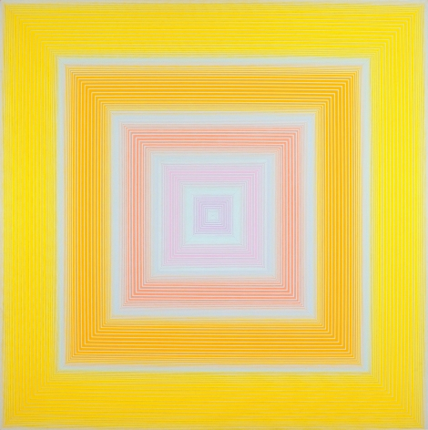 Richard Anuszkiewicz, Soft Yellow, 1972, oil on canvas, 72 x 72 inches