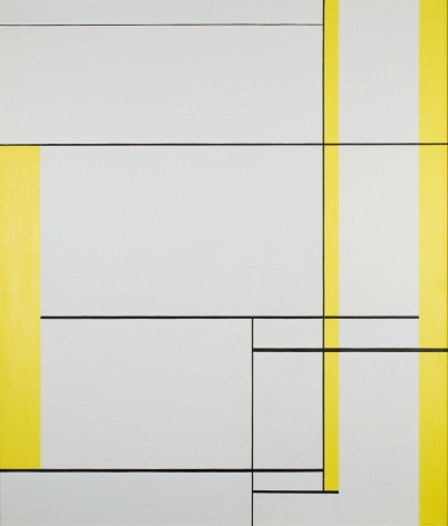 Ilya Bolotowsky, Yellow Lines, 1960, oil on canvas, 47 x 40 7/8 inches