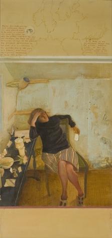 Jules Kirschenbaum, Cornelis, n.d., acrylic on canvas, 30 x 14 inches