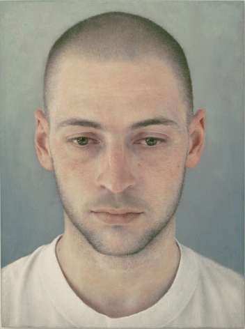 robert bauer, Adam (SOLD), 2011, oil on canvas mounted on wood, 7 9/16 x 5 3/8 inches
