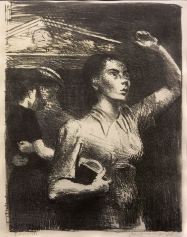 Raphael Soyer, Farewell, 1943 (Cole, 61), lithograph (ed. c. 100), 16 x 12 3/8 inches, AP, Edition of c. 100