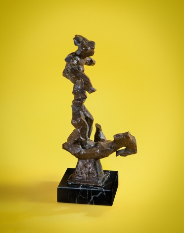 Chaim Gross, Acrobats (Balancing), nd, bronze, 13 x 6 1/2 inches