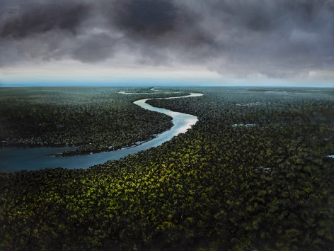 tula telfair, Order Masquerading as Randomness, 2019, oil on canvas, 60 x 80 inches