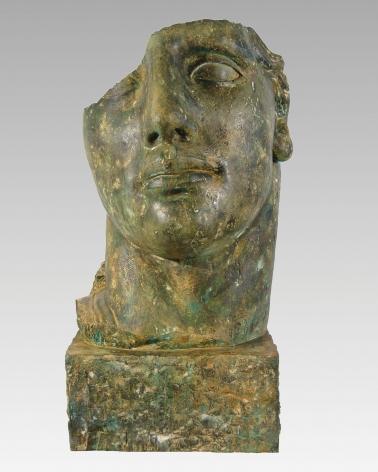 Igor Mitoraj, Centurione Petrificato, 2008, bronze, 44 x 24 1/2 x 18 1/4 inches, Unique