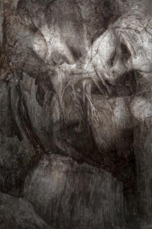 alyssa monks, Origin, 2015, oil on linen, 72 x 48 inches