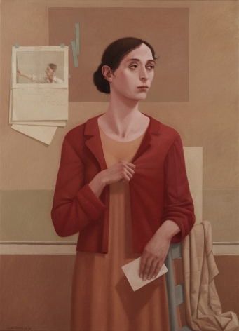 alan feltus, The Red Jacket, 2008, oil on canvas, 43 1/4 x 31 1/2 inches