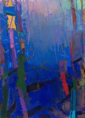 brian rutenberg, Spell (SOLD) , 2014, oil on linen, 83 x 60 inches