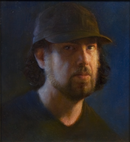 Steven Assael, Self-Portrait, 2012, oil on panel, 11 x 12 inches