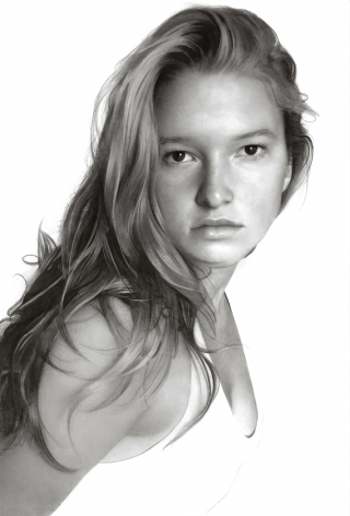 Clio Newton, G.G., 2020, compressed charcoal on paper, 87 7/8 x 58 inches