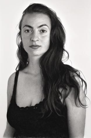 clio newton, Mira, 2018, compressed charcoal on paper, 89 x 58 inches