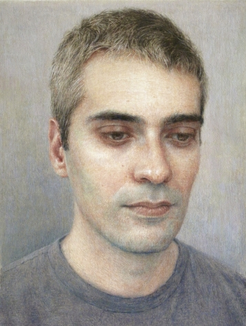 Robert Bauer, Joan, 2019, gouache on paper, 6 5/8 x 5 inches