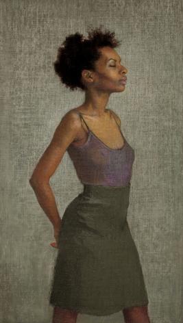 Ellen Eagle,  Miss Leonard (SOLD), 2009, pastel on pumice board, 14 3/4 x 8 1/4 inches