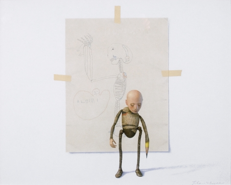 alan magee, The Young Albinus, 1997, acrylic and graphite on Whatman paper, 15 1/2 x 19 inches