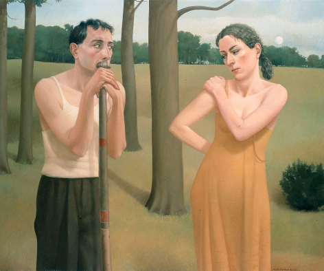 Alan Feltus, Low Hangs the Moon, 2002, oil on linen, 39 1/2 x 47 1/2 inches