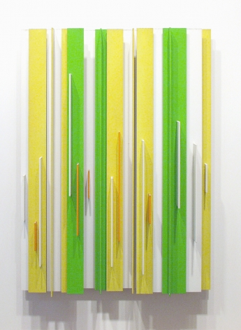 Charles Biederman, No. 36, Ornans, 1952 - 1973, painted aluminum, 39 h x 32 w x 5 d inches