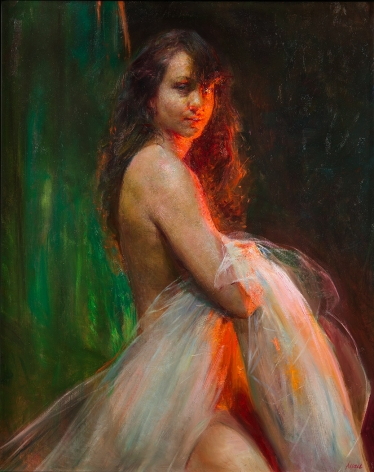 Steven Assael, Jasmine, 2015, oil on canvas mounted to board, 30 x 24 inches