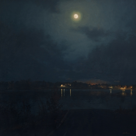linden frederick, Lake (SOLD), 2011, oil on linen, 35 x 35 inches