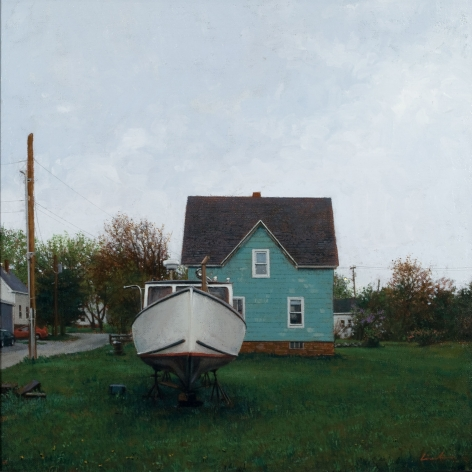 Linden Frederick, May Day (SOLD), 2007, oil on panel, 12 1/4 x 12 1/4 inches
