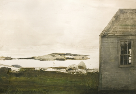 Andrew Wyeth, Sea Level, 1982, watercolor on paper, 28 3/4 x 42 inches