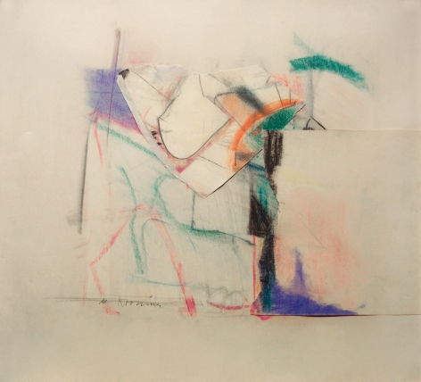 Willem de Kooning, Untitled (SOLD), 1957, pastel and paper collage, 20 1/2 x 21 1/4 inches