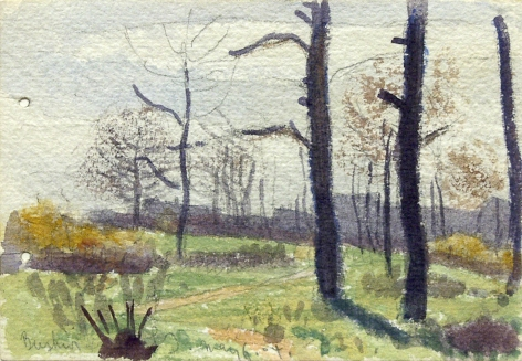 Oscar Bluemner, Busher, NJ, May 6, 04, 1904, watercolor on paper, 3 1/2 x 5 inches
