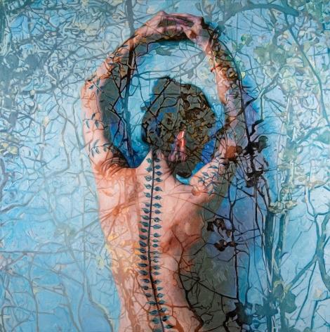 "Alyssa Monks, ""Daphne"", 2018, oil on linen, 48 x 48 inches"