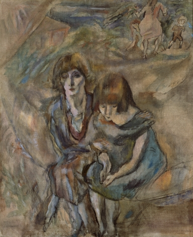 jules pascin, Hermine et Lucy (SOLD), 1921, oil on canvas, 25 5/8 x 21 1/4 inches