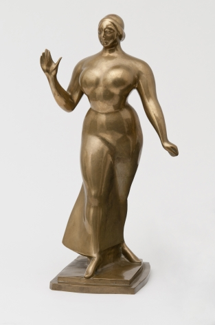 Gaston Lachaise, Woman Walking, 1919, cat in 1962, polished brosnze 19, h x 10 w x 7 1/2 d inches, Lachaise Estate edition 5/6