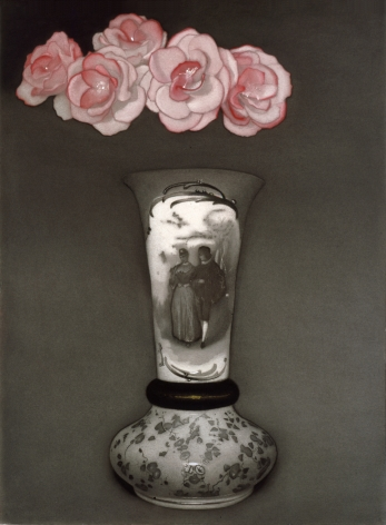 susan hauptman, Still Life (flowers), 2006, charcoal and pastel on paper, 36 x 26 inches