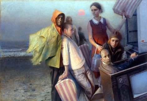 paul fenniak, Arrival (SOLD), 2015, oil on canvas, 45 x 65 inches