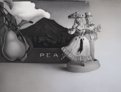susan hauptman, Still Life (Pear), 2012, charcoal on paper, 32 x 26 inches