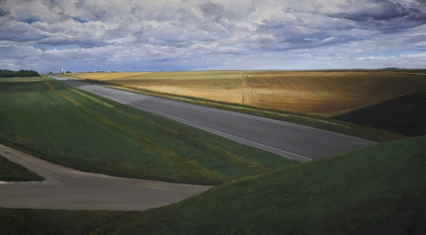 William Beckman, Montana, 2020, oil on canvas, 58 x 104 inches