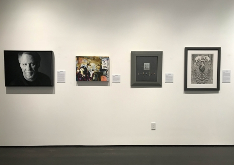installation photo: Artists by Artists, Forum Gallery, New York, NY, January 20 - February 24, 2018