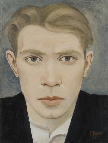 Ernst Thoms, Self Portrait, 1926, oil on board, 14 x 10 5/8 inches